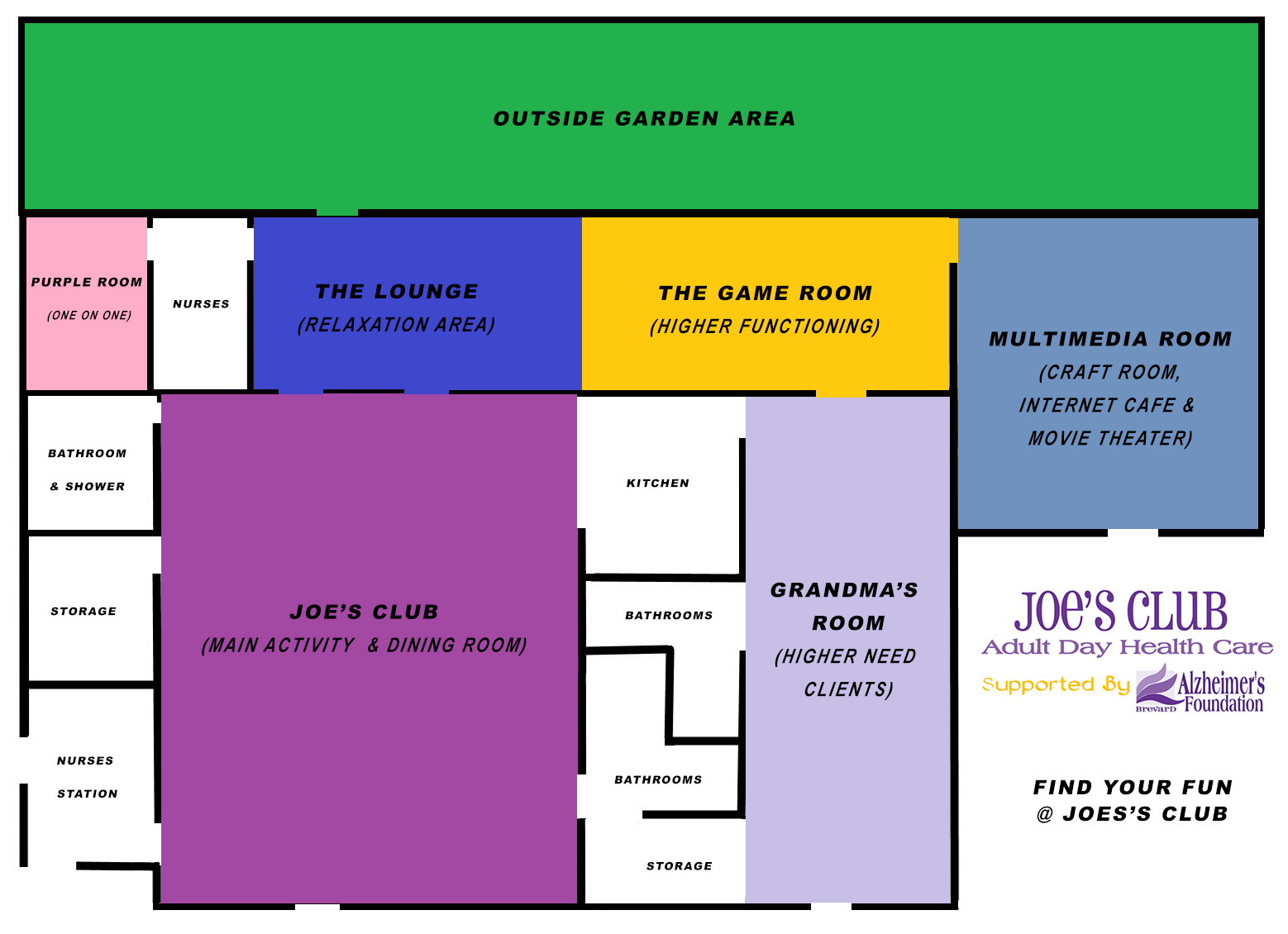 Joe's Club Floor Plan